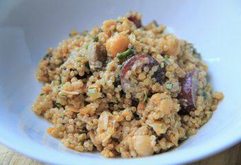 Creamy Quinoa & Chickpea Salad