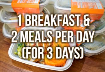3 Day Plan - 1 Breakfast & 2 Meals Per Day