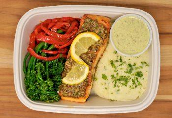 Lemon Mustard Shallot Salmon