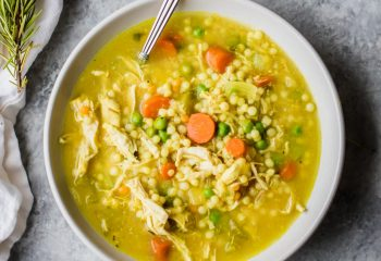 Chicken Vegetable Soup w/ Pearl Couscous