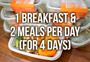 4 Day Plan - 1 Breakfast & 2 Meals Per Day