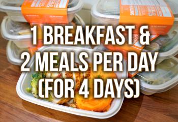 4 Day Plan - 1 Breakfast & 2 Meals Per Day