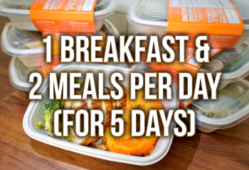 5 Day Plan - 1 Breakfast & 2 Meals Per Day