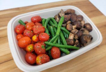 Roasted Mushrooms, Grape Tomatoes & String Beans (BULK PORTION)